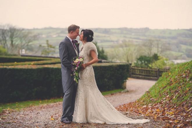 Charlotte & Elliot on their wedding day