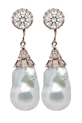 Irregular Pearls Drop Earrings